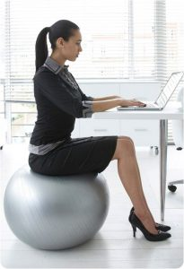 Turn of the century woman on her space ball & her computer book